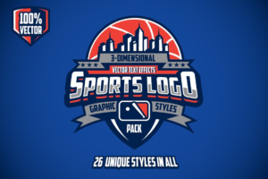 Download 3D Sports Logo Graphic Styles Pack