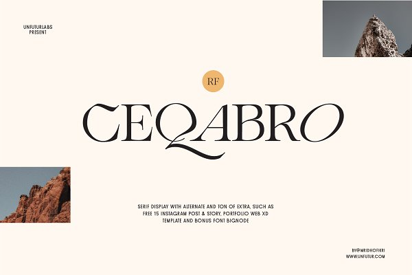 Download RF Ceqabro Serif Display + Extra