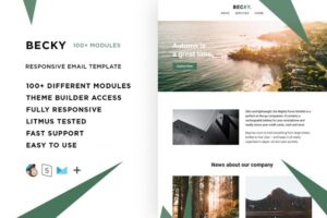 Download Becky – 100+ Modules Email template