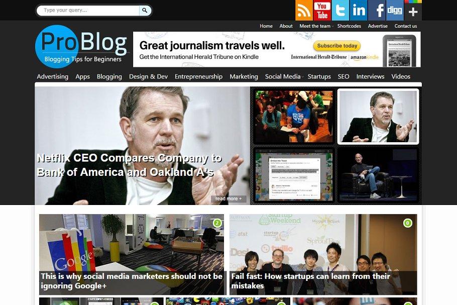 Download ProBlog Professional Blogging Theme
