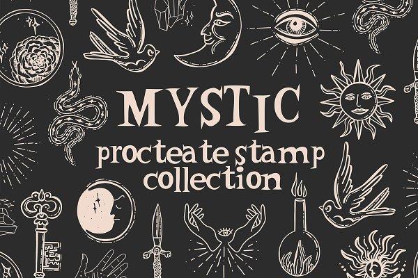 Download Mystic Symbols Sun Brushes Procreate