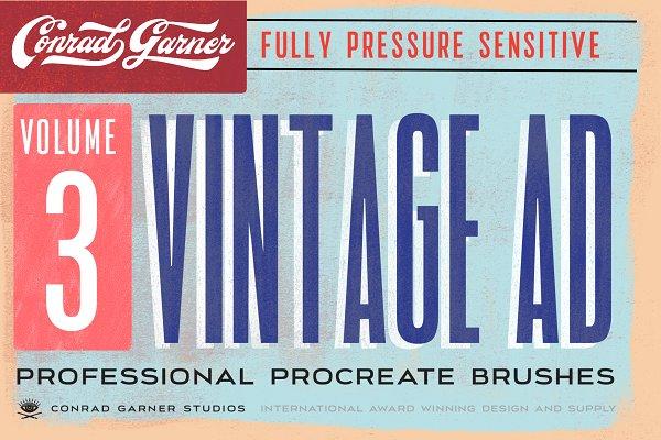 Download 81 VINTAGE AD Brushes - Procreate