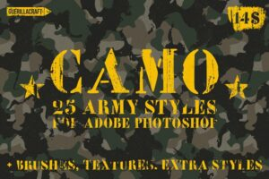 Download Camo Styles for Adobe Photoshop