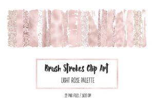 Download Light Rose Brush Stokres Clip Art