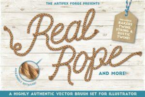 Download Real Rope - Illustrator Brushes