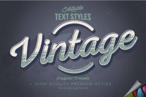 Download Retro Vintage Illustrator Text Style