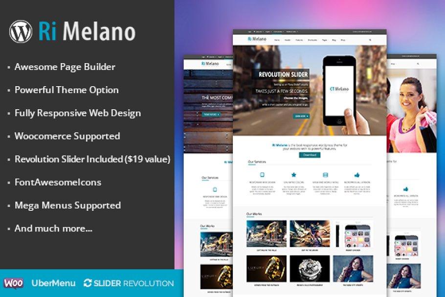 Download RI Melano responsive wordpress theme