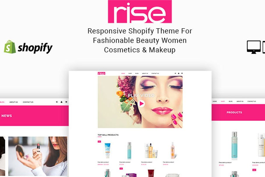 Download Rise Beauty Cosmetics Shopify Theme