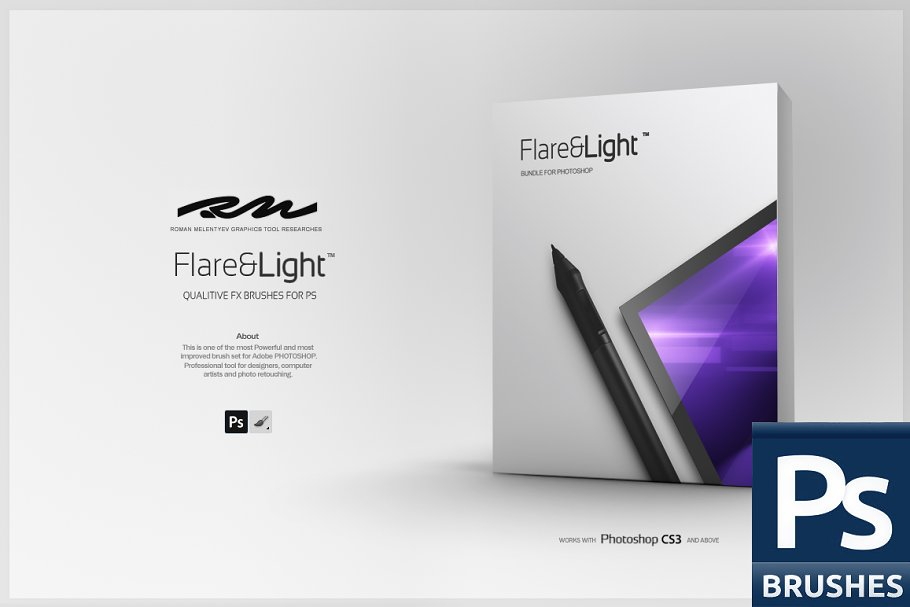 Download RM Flare & Light (PS brushes)