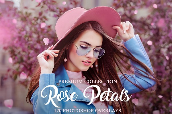 Download Rose Petals Photoshop Overlays