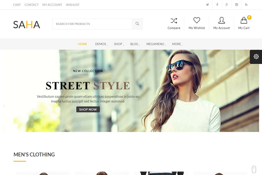 Download Saha WordPress Theme