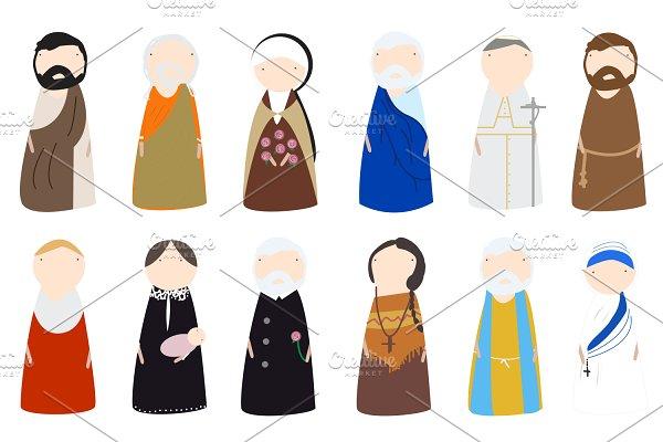 Download Catholic Saint Peg Doll Images