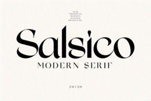 Download Salsico - Modern Font
