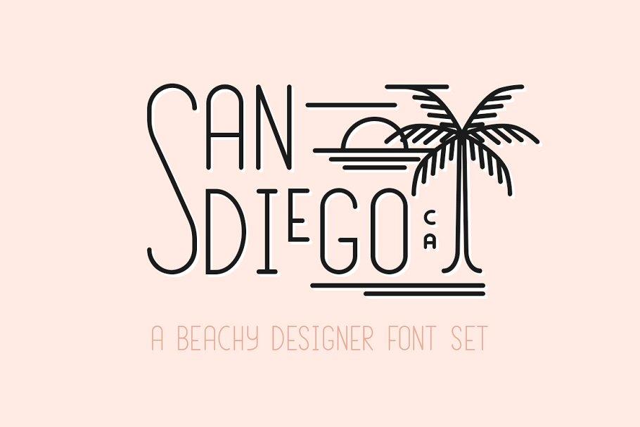 Download San Diego | Beach Font Set