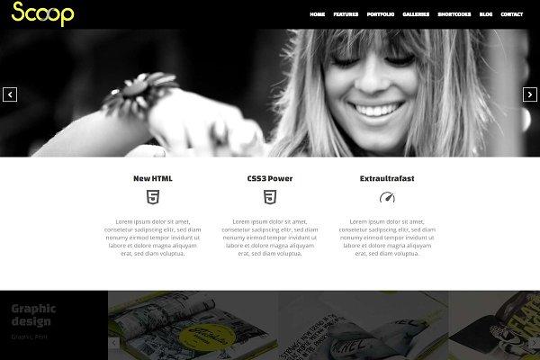 Download Scoop - Creative Portfolio WP Theme
