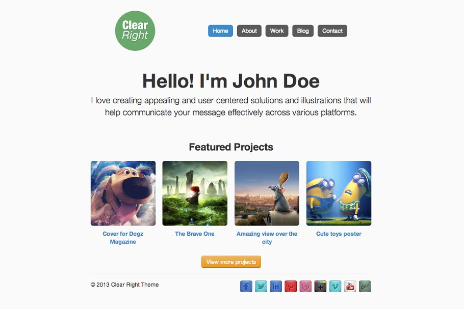 Download Clear-Right WordPress Theme