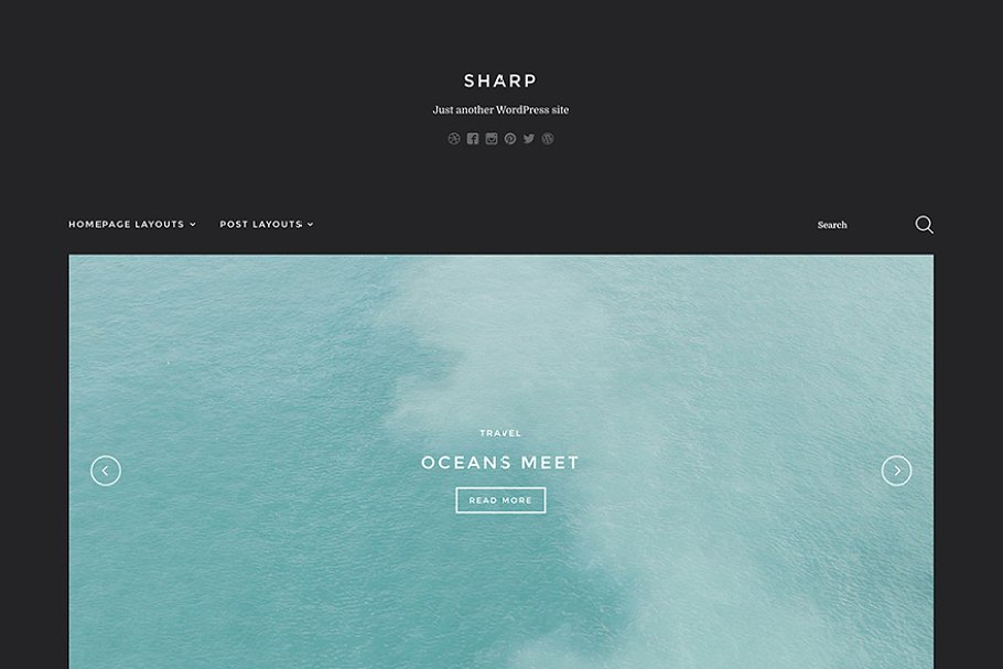 Download Sharp - Blogger Theme for WP