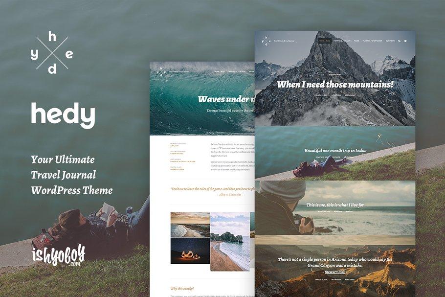 Download Hedy - WordPress Blog Traveler Theme