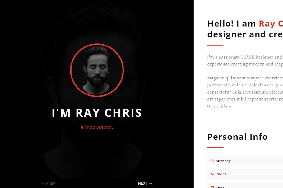 Download Yoursite - vCard Resume Template
