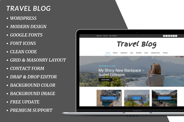 Download Diamond Travel Blog WordPress Theme