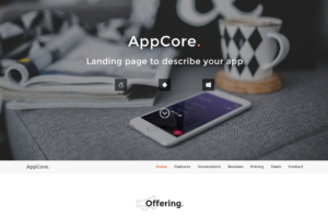 Download AppCore - App Landing Page