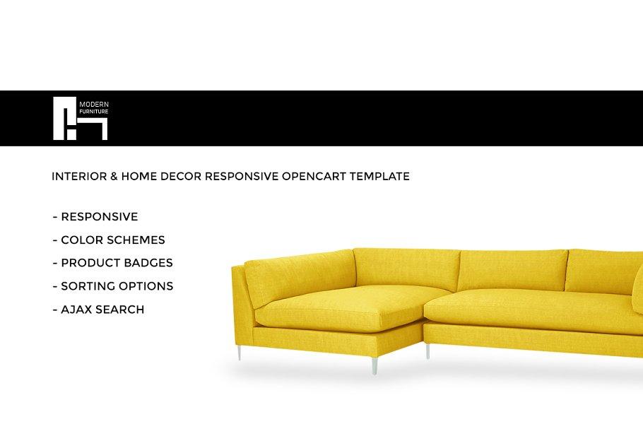 Download Interior & Home Decor OpenCart Theme