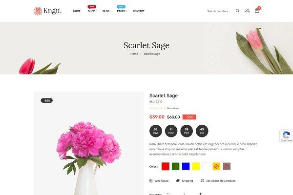 Download Kngu - Flower Shopify Theme