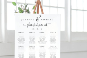 Download Wedding Seating Chart - Editable PDF