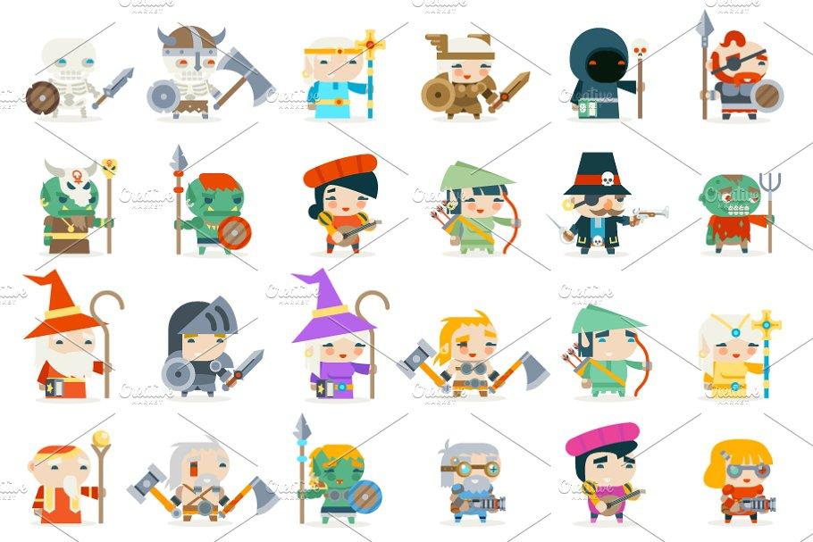 Download Set fantasy rpg game heroes
