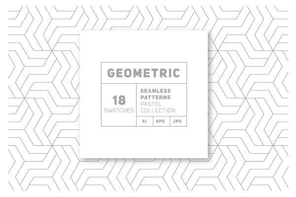 Download 18 Geometric Seamless Patterns vol.3