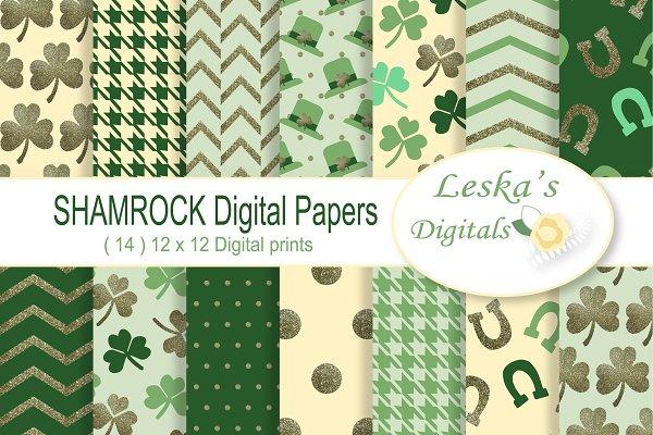 Download Saint Patrick's Digital Paper Pack