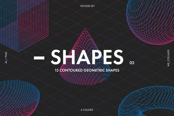 Download Contoured Vector Geometric Shapes