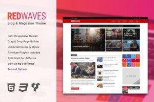 Download RedWaves - Modern WordPress Theme