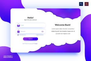 Download Clean Login Form in Trendy Purple