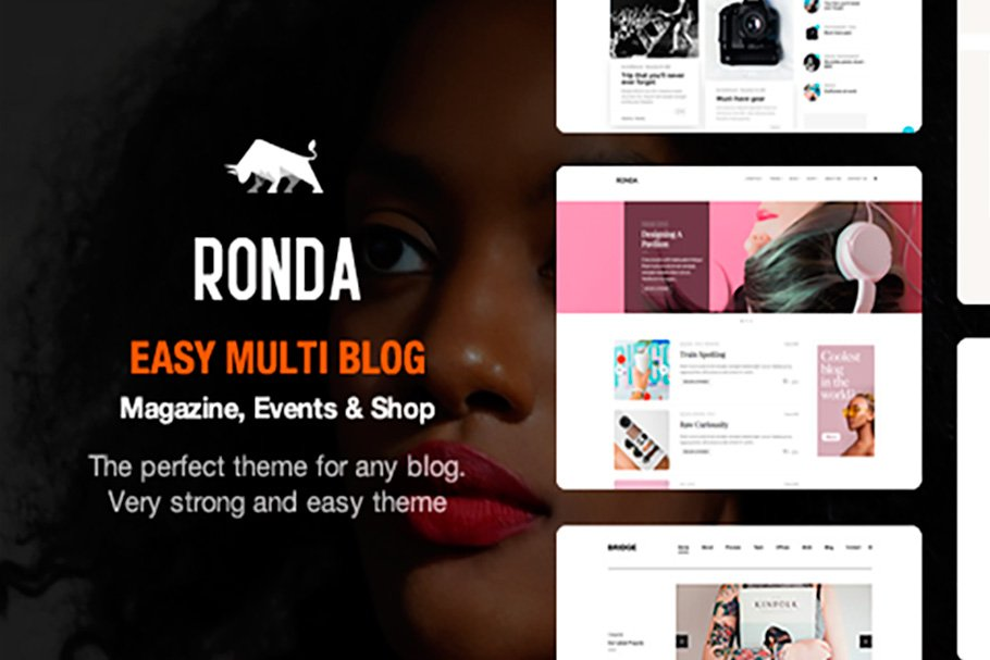 Download Ronda - Blog & Shop Wordpress Theme