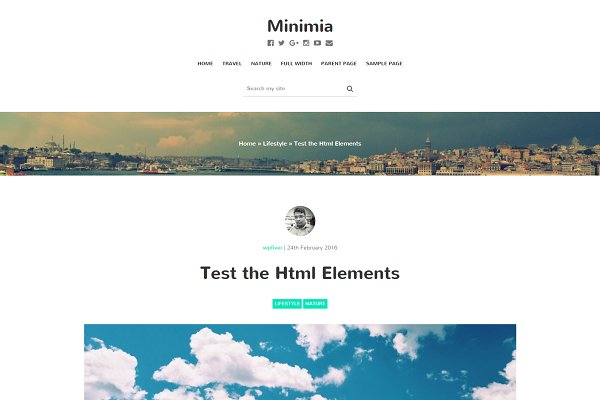 Download Minimia-Content Focused Bootstrap WP