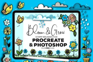 Download Bloom & Grow Brushes Procreate & PS
