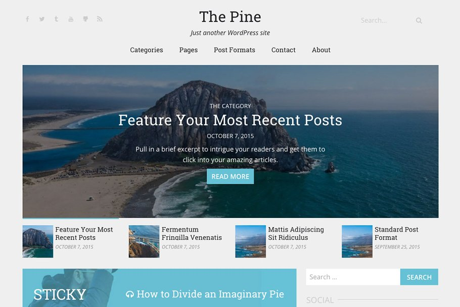 Download The Pine   WordPress Theme