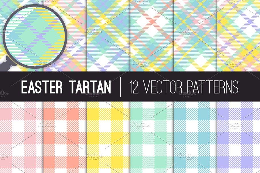 Download Vector Easter Tartan Plaid Patterns