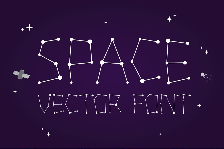 Download Outta space vector font