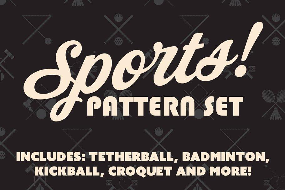 Download Sports Pattern & Icon Set
