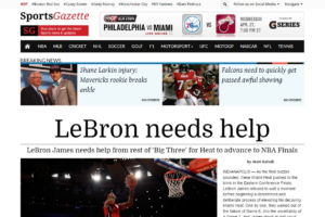 Download SportsGazette Sports Newspaper Theme
