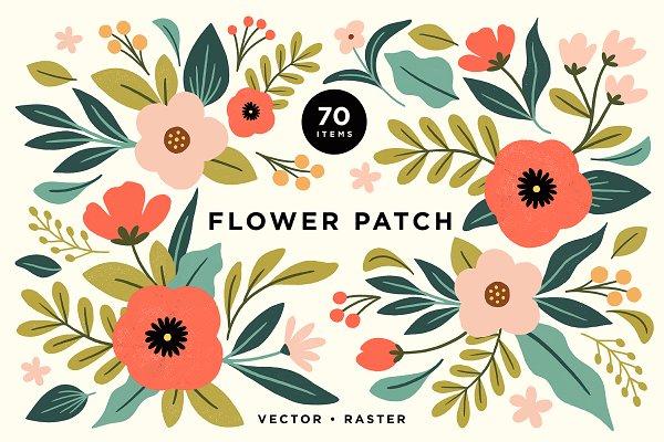 Download Colorful Pastel Floral Illustrations