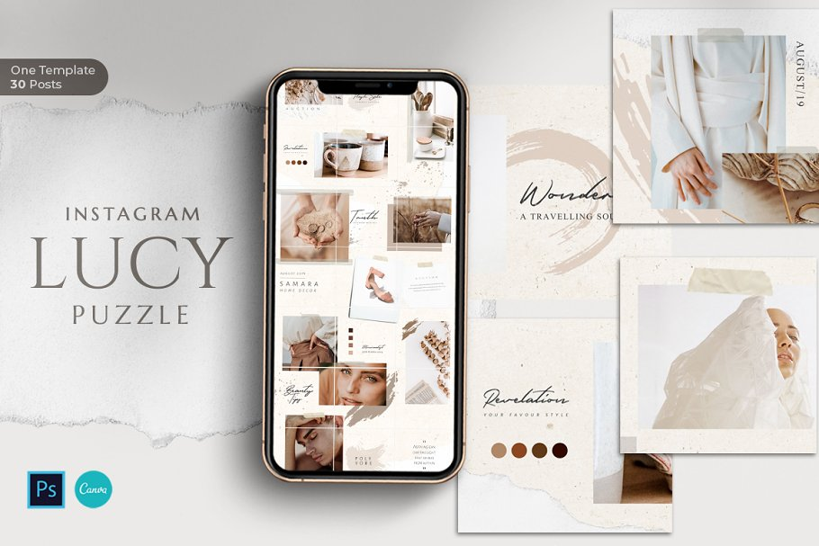 Download Puzzle Lucy Instagram - Canva & PS