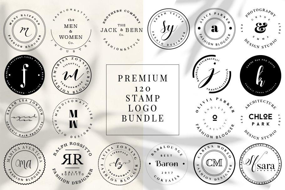 Download PREMIUM 120 Stamp Logo Bundle