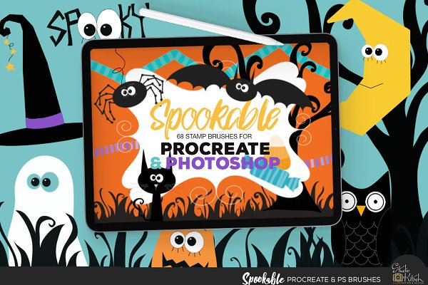Download Spookable Procreate & PS Brushes