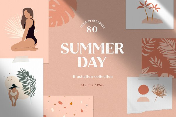 Download Summer day   Illustration collection