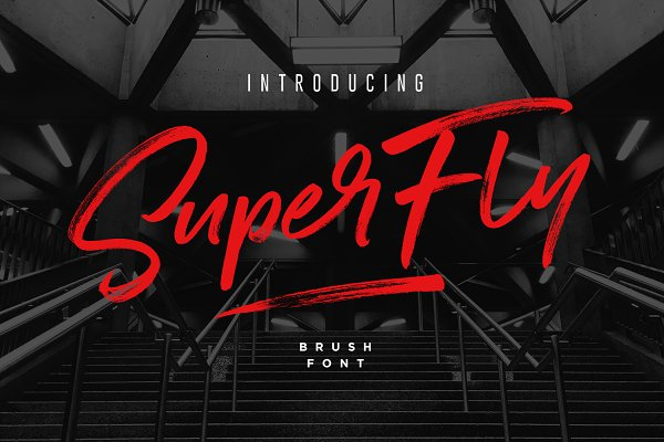 Download SuperFly Brush Font