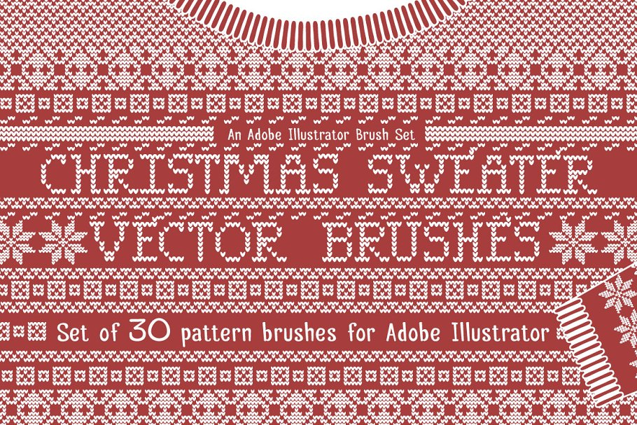 Download Christmas Sweater Knit Brushes