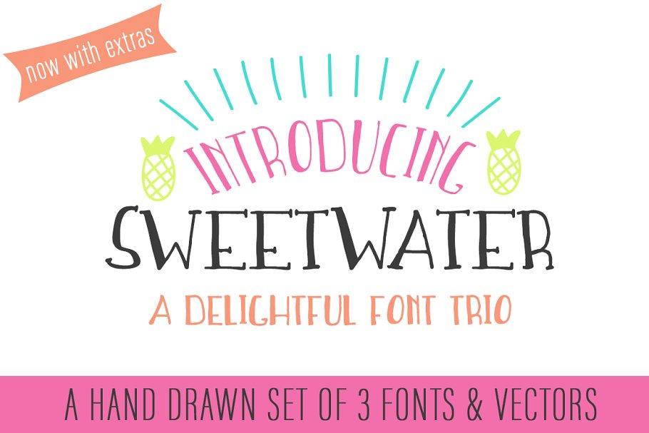 Download Sweetwater Handwritten Font Trio